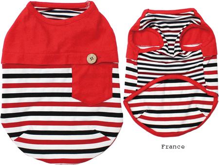 国旗配色ボーダーTシャツ(SAD20380-3)