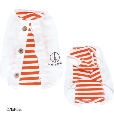 LOVE&PEACEカーデ風Tシャツ(SAD20390-7) 30%オフ