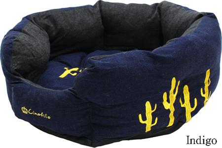 デニムサボテン刺繍カドラーベッド (SAD30550-17)  50%off