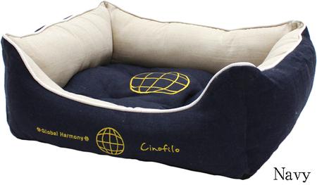 厚手素材GLOBAL HARMONY刺繍スクエアベッド(SAD30550-16) 50%off