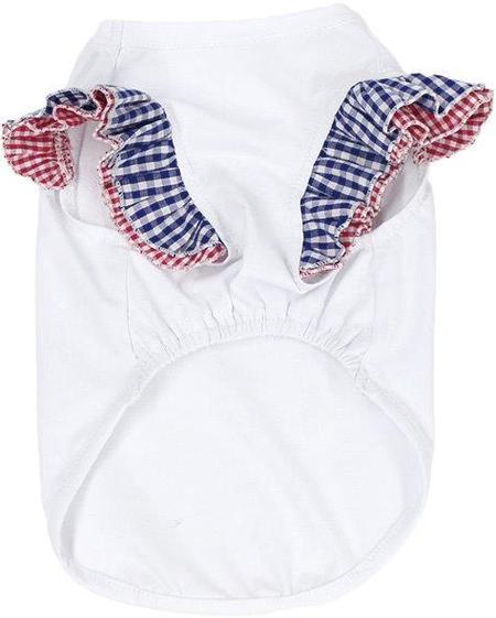 袖切り替えフリルTシャツ