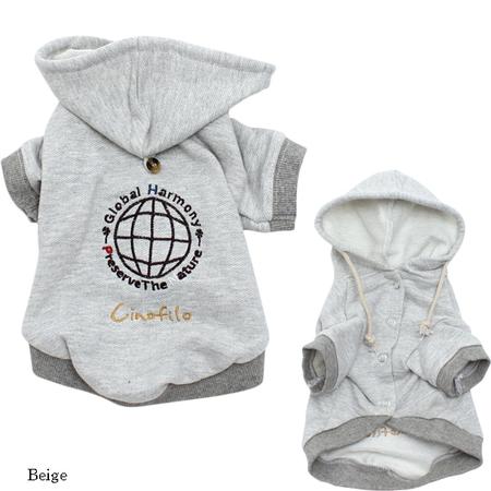 GLOBAL HARMONY袖付き刺繍パーカー(SAD20430-55) 50%off