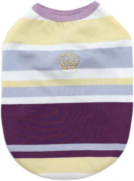 パネルボーダー王冠刺繍Tシャツ 30%オフ
