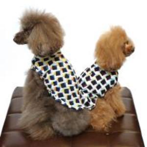 COOL強撚糸幾何学柄刺繍Tシャツ